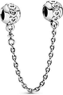 Pandora Women's Sterling Silver Hearts Safety Chain - 791088-05