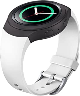 FanTEK Band for Samsung Gear S2 - Soft Silicone Sports Style Replacement Strap Work for Samsung Gear S2 Smart Watch SM-R720 SM-R730 Version Only (White)