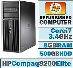 HP Compaq 8200 Elite CMT/Core i7-2600 @ 3.4 GHz/8GB DDR3/500GB HDD/DVD-RW/No OS
