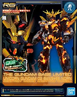 Bandai 1/144 RG RX-0 Unicorn Gundam Unit 2 Banshee Norn Destroy Mode Lighting Model Mobile Suit Gundam UC Gundam Base Limited