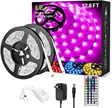 LED Strip Lights 32.8ft, RGB LED Light Strip, 5050 SMD LED Color Changing Tape Light with 44 Key Remote and 12V Power Supp...