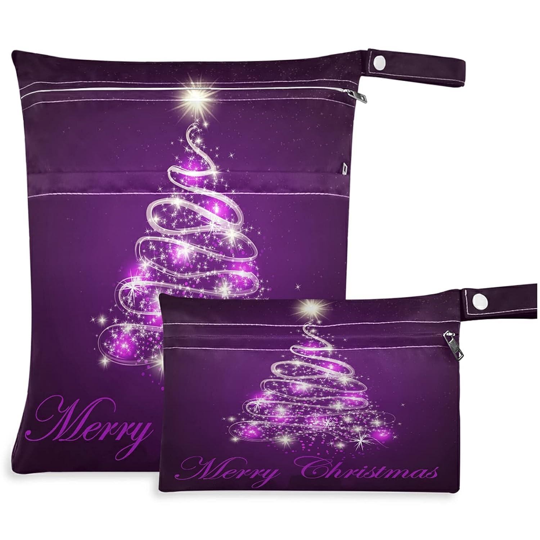visesunny Merry Las Vegas Mall Christmas Shining Decorative Fir B 2Pcs Las Vegas Mall Tree Wet