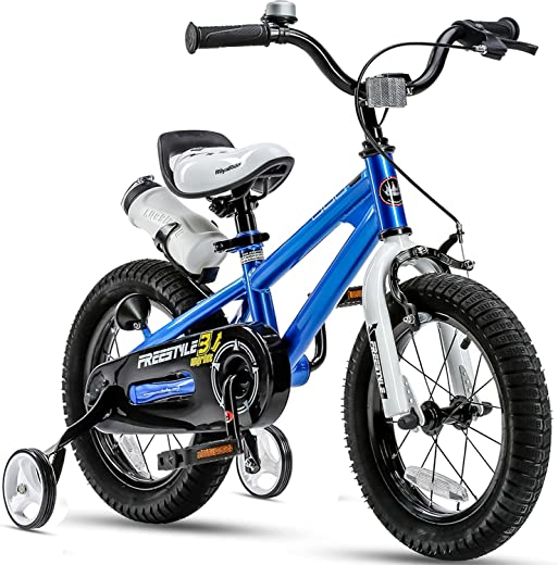 RoyalBaby Kids Bike Boys Girls Freestyle Bicycle 12 14 16 inch with Training Wheels,16 18 20 inch with Kickstand Child's Bike Blue Red Orange Green Pink White Fuchsia