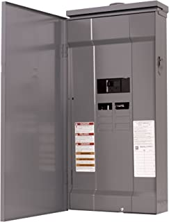 Square D by Schneider Electric HOM816M200FTRB Homeline 200-Amp 8-Space 16-Circuit Outdoor Main Breaker Load Center with Feed-Thru Lugs