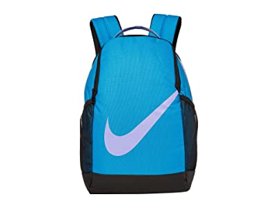 Nike Kids Brasilia Backpack (Little Kids/Big Kids) (Blue Stardust/Black/Medium Violet) Backpack Bags
