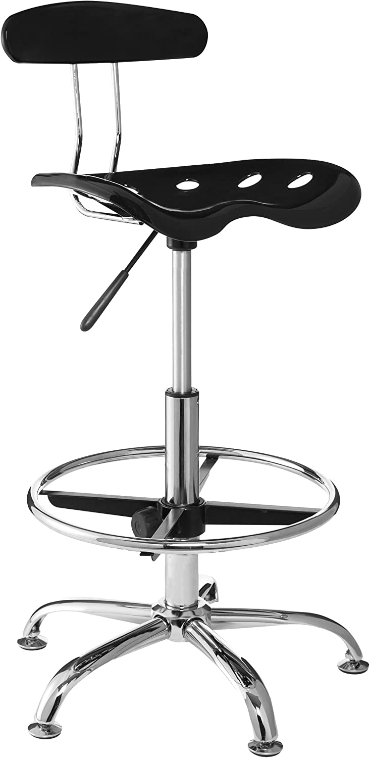 OneSpace Drafting Stool with Tractor Seat,?Black