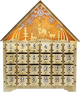 SAND MINE Countdown to Christmas Wooden Advent Calendar, 24 Drawers