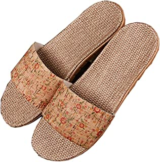 Linen Slippers - Home Interior Sandals Wear-resistant Non-slip Outdoor Beach Shoes