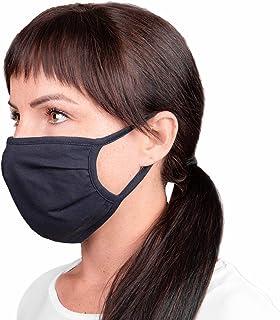 5 stuks gezichtsbedekking, mondbescherming, preventie tegen spat/druppelcontact in mond en neus, katoen, ademend, herbruik...