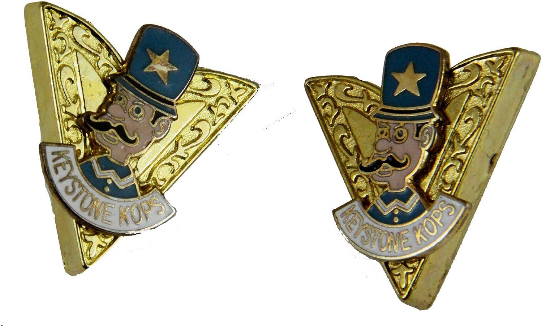 4031779 Keystone Kops Collar Tips Shrine Unit Key Stone Cops Shriner