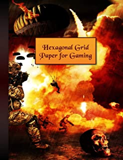 Hexagonal Grid Paper for Gaming: For Creating Fun and Imaginative Games!