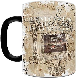 Harry Potter Hogwarts Marauders Map Heat Reveal Ceramic Coffee Mug - 11 Ounces