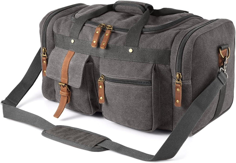 Yzibei Groe Kapazitt Reisetasche, groe Kapazitt, Canvas-Tasche, Handreisetasche, Retro-Mehrzweck-Umhngetasche, Gepcktasche.
