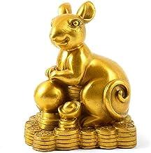 Standbeelden Chinees Zodiac Beeldje Fengshui Woondecoratie Rijkdom Collectible Gift Gouden Rijkdom Beeldje Feng Shui Decor...