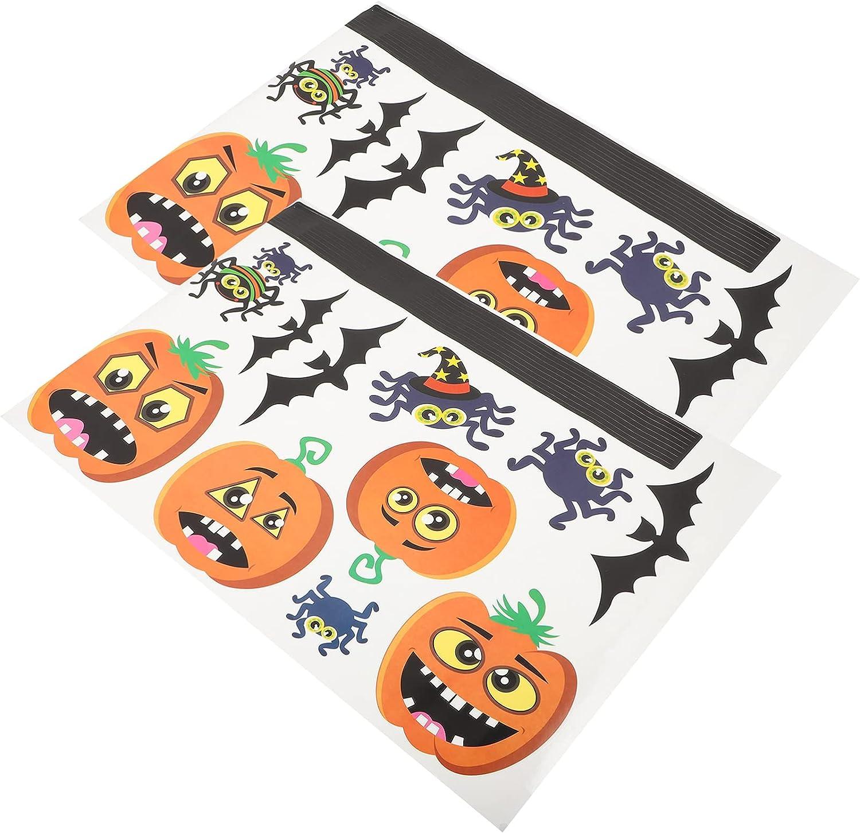 BESTOYARD 2pcs Electrostatic Paste S Bat Sticker Fresno Mall Indianapolis Mall Pumpkin