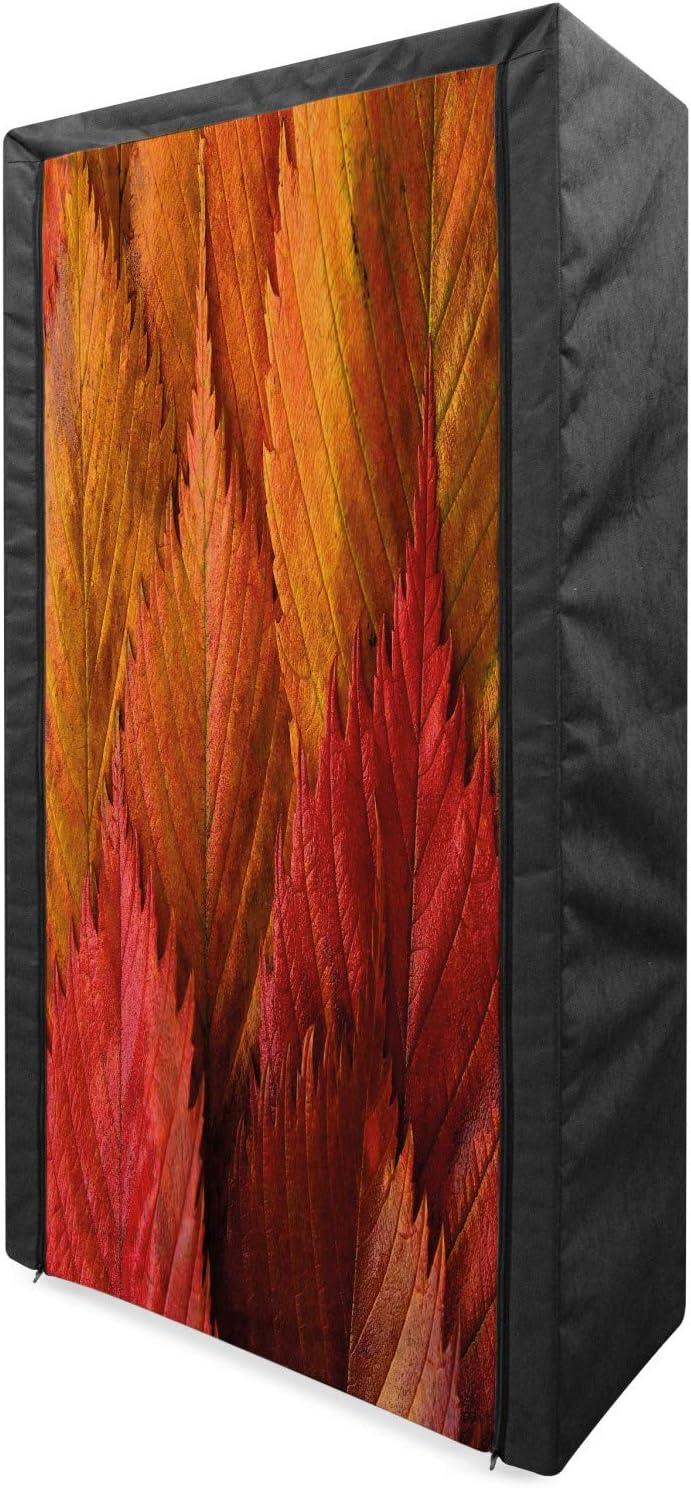 Lunarable Fall Leaves Portable Low price Fabric Illus Wardrobe Close Shot Super sale