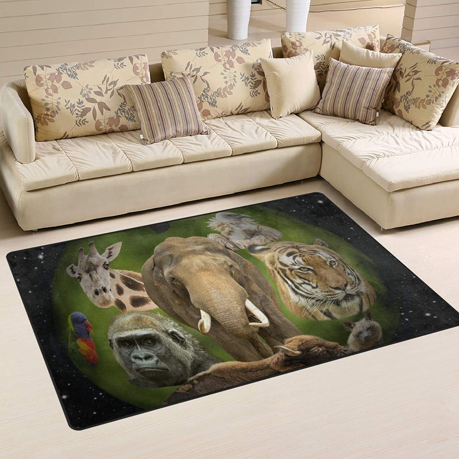 FANTAZIO Area Rug Accessories Animal Planet Entry doormats for Corners and Edge Anti-Curling Ideal Rug Stopper 31x20in 60x39in
