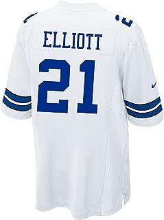 Dallas Cowboys Ezekiel Elliott Nike White Game Replica Jersey