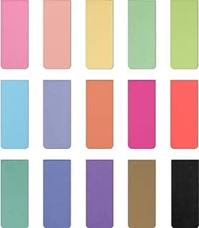 15 Piezas Marcadores Magnéticos Marcadores de Página Magnéticos Coloridos para Accesorios de Lectura de Papelería para Estudiantes (Conjunto de Colores 2)