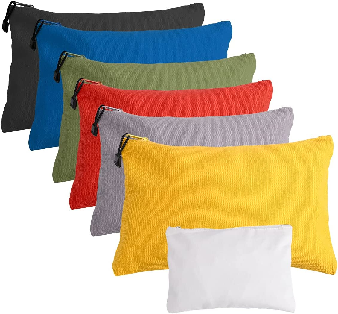 YEUIKERR Canvas Tool Zipper Pouches,7 Pack Utility Bag Use as Ba