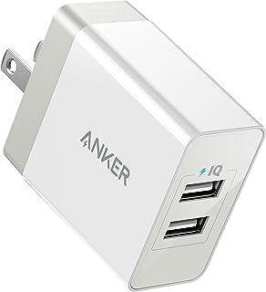Anker PowerPort 2 Eco (12W 2ポート USB急速充電器) 【PSE認証済/折りたたみ式プラグ/PowerIQ & BoltageBoost】iPhone/iPad/MacBook/Android 各種対応 (ホワイト)