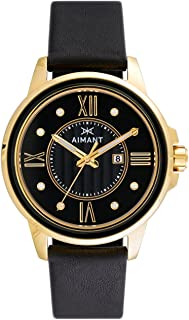 Sydney Watches   36 MM Women's Analog Minimalist Watch   Leather Band