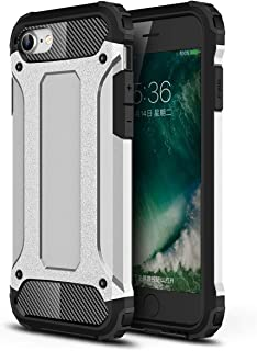 جراب FanTing لهاتف Apple iPhone SE2، [مقاوم للصدمات] [شديد التحمل] [جراب واقٍ صلب بطبقة مزدوجة قوية، سميك بأربعة أركان وغط...