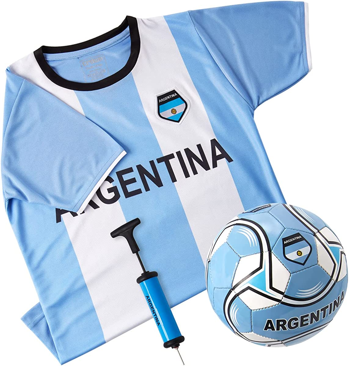 Argentina National Team Kids 67% OFF of fixed price Soccer Includes Short New sales Kit Jersey -