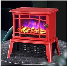 Calefacción Eléctrica con Efecto De Llama Realista 2 Niveles De Calor 1000-1500 W Chimenea Eléctrica Interna Independiente Calefacción Roja