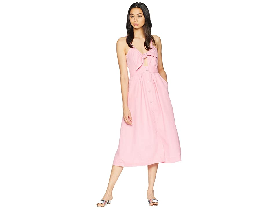 Juicy Couture Washed Linen Dress (Pink Lemonade) Women