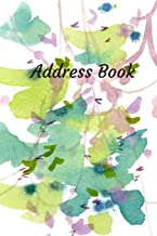 Address Book: With Alphabetical Tabs, For Contacts, Addresses, Phone, Email, Birthdays and Anniversaries (Watercolor)