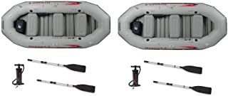 Intex Mariner 4-Person Inflatable River Lake Dinghy Boat and Oars Set (2 Pack)