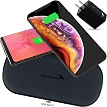 IBIS Wireless 2.0-10W Dual Wireless Charger Fast Charging Station 2 Devices at Once, Wireless Charging Pad, Certified Qi Wireless Charger USB C Phone Charger Pad for iPhone Xs Max X AirPods Galaxy
