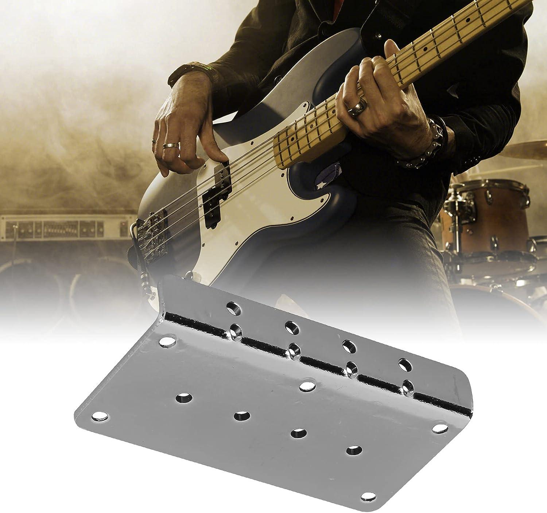 Piezas de puente, placa de puente de guitarra portátil de 3,1 x 1,6 pulgadas para reemplazar placas de puente viejas o dañadas para un puente de bajo de 4 cuerdas