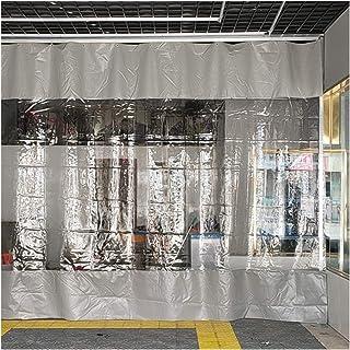 YJFENG لوحة جانبية للخيمة مقاومة للمطر ، مظلات شفافة مشمع ، ستارة خارجية مقاومة للماء ، 0.5 مم PVC مقاومة للمطر للحديقة (ا...