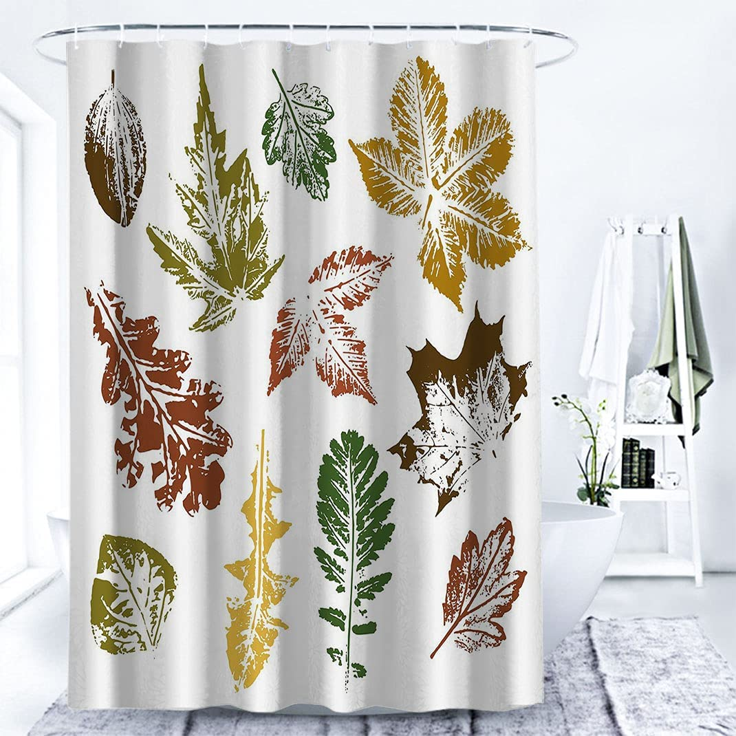 Leaf Cloth Bathroom Curtain Autumn Various Tree Maple Cheap mail Finally popular brand order specialty store Spring Oak