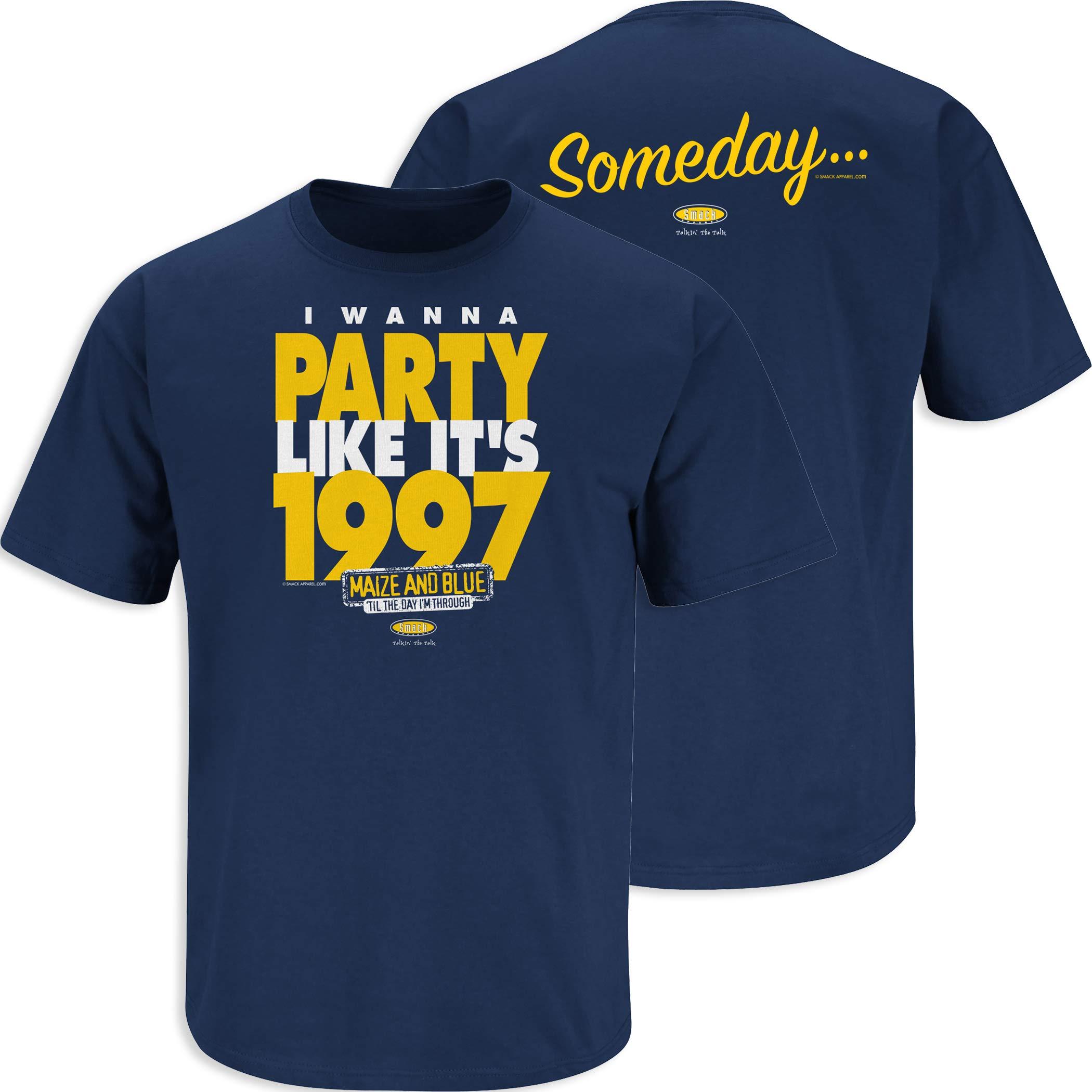 Sm-5x Smack Apparel Michigan Football Fans So Bad Lebron Left Twice Maize T-Shirt
