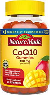Nature Made CoQ10 100 mg Gummies, 60 Count for Heart Health