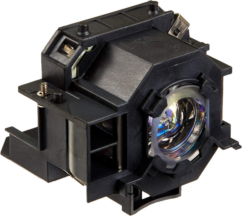 Supermait EP42 A++ Calidad Lámpara Bulbo Bombilla de Repuesto para proyector con Carcasa, Compatible con Elplp42, Adecuada para EMP-83C EMP-83 EMP-822H EMP-822 EMP-410We EMP-410W EX90 PowerLite 400W