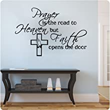 Prayer is the Road to Heaven religious wall decal- Black (28