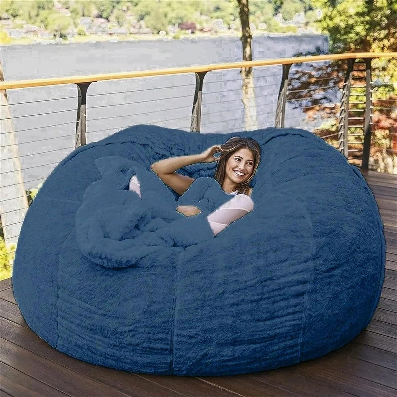 EKWQ Bean Bag Chair Denver Mall Cover Only Room New item F No Living Filler