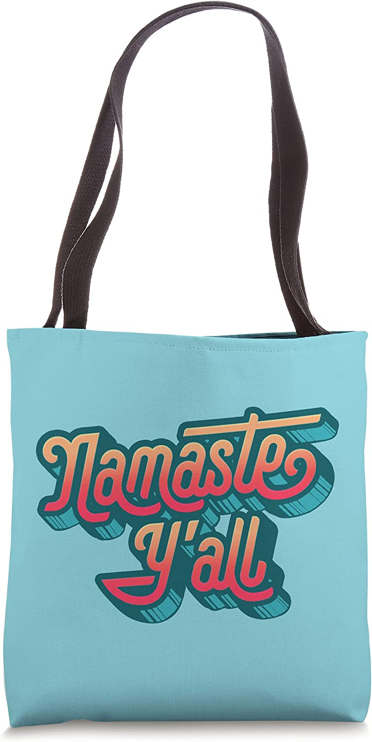 Namaste Y'all Funny Typography Southern Tote Yoga Eighties Bag Large-scale sale Great interest