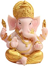 Generic Ganesha Figurine India Elephant God Buddha Home Feng Shui Decoration Sculpture Crafts Also for Car Dashboard