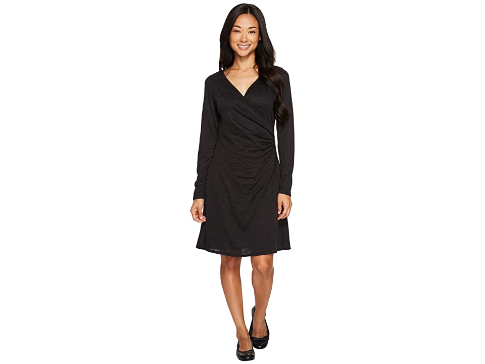Prana Nadia Long Sleeve Dress (Charcoal) Women