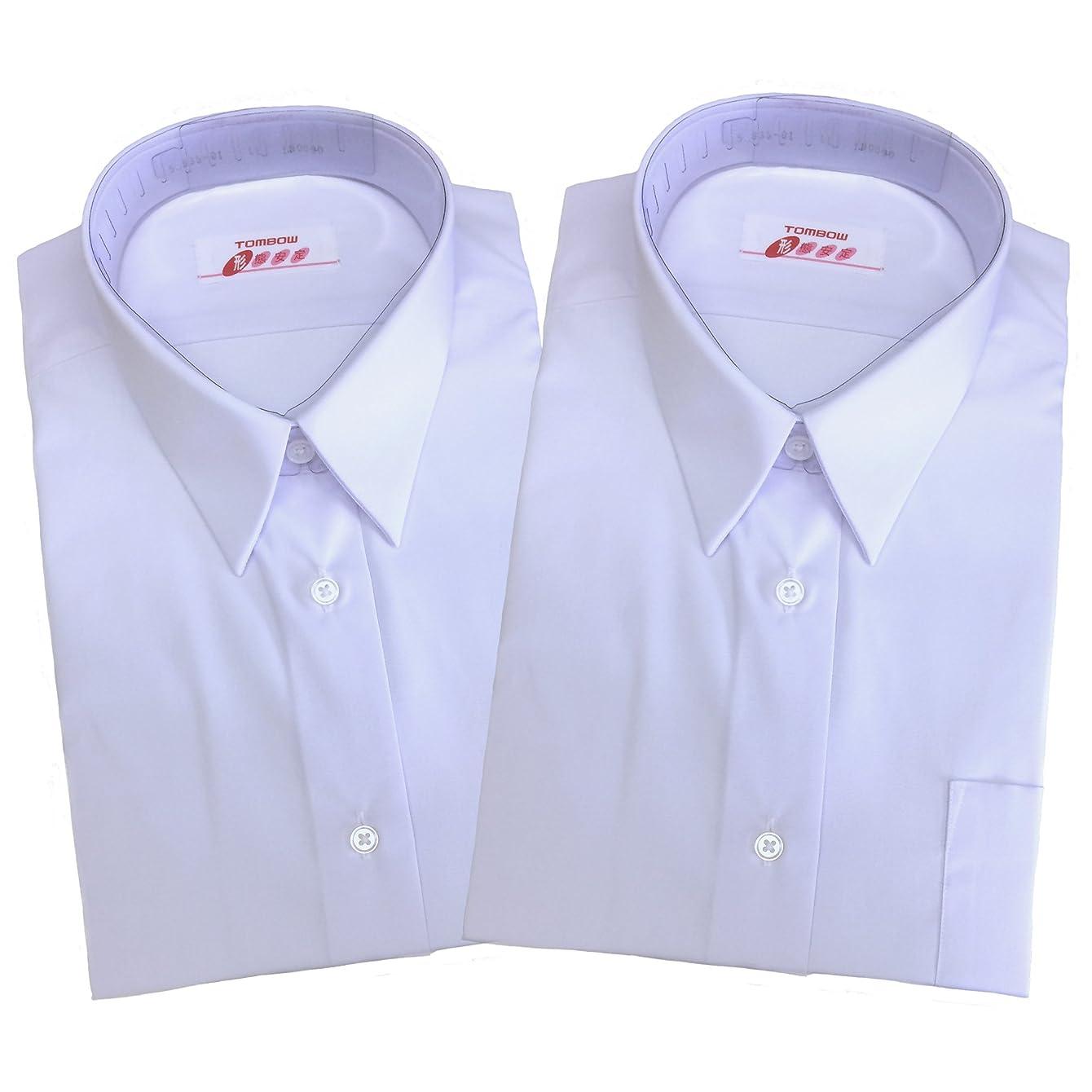 沼地絶望見えない【トンボ】TOMBOW スクールシャツ 女子 半袖 白 A体 2枚セット 形態安定?抗菌防臭 tombow10