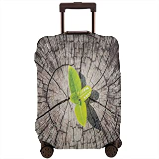 Travel Luggage Cover,Dried Earth With Last Bush Saving Planet Symbolic Hope Nature Home Suitcase Protector