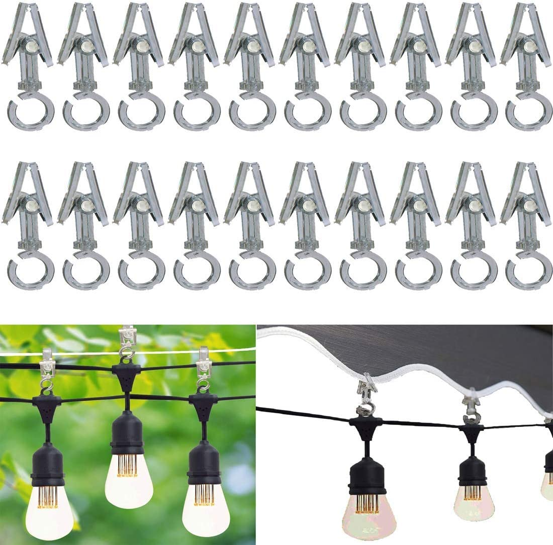 Max 70% OFF (20 Pack) Clear Collection Rope Max 54% OFF No Light — Clips
