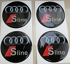para tuning 50 mm para tapacubos de aleaci/ón 4 Pegatinas efecto fibra de carbono 3D resinadas
