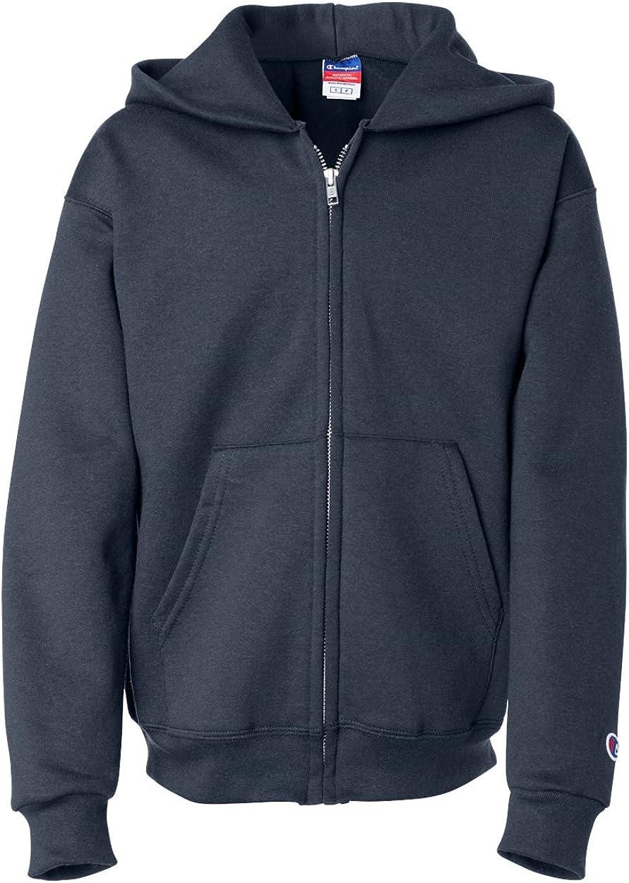 Champion Boys Boys' Big Powerblend Eco Financial sales sale Full Fleece Hoodie Zip Manufacturer OFFicial shop