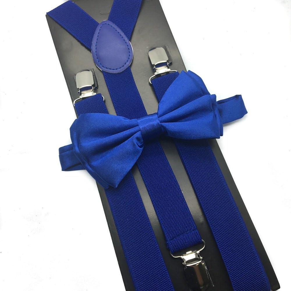 4everStore Unisex Bow Tie & Suspender Sets, Royal Blue